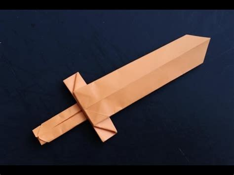 Cool Easy Origami - how to make a cool origami paper sword origami