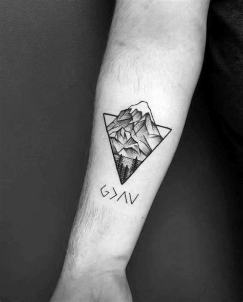 guy getting triangle tattoo on forearm ideas tattoo 50 god is greater than the highs and lows tattoo designs