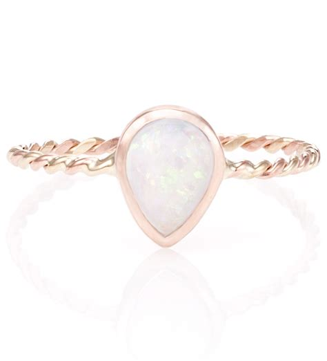 Julia Failey Rose Gold Opal Twist Ring