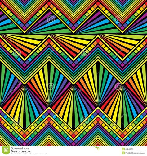 mexican pattern vector art seamless rainbow color stock vector image 45240971