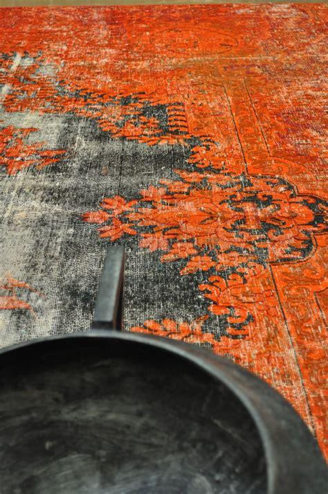 orange and black rugs orange black overdyed vintage rug floors rugs
