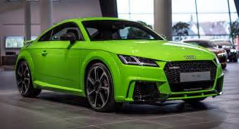 lime green audi tt rs looks much better than expected