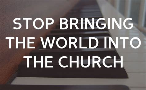 worldliness in the church