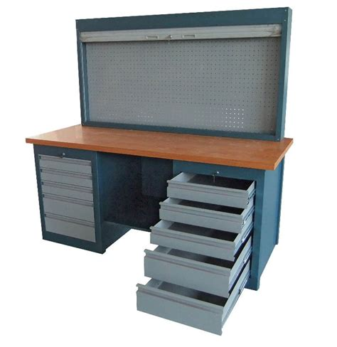Steel Workbenches With Drawers by Metal Garage Steel Workbench With Drawers Buy Steel