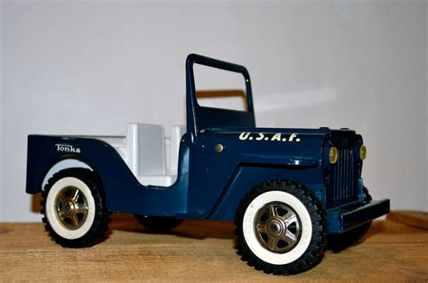 Tonka Jeep Vintage Tonka Usaf Air Blue Jeep Pressed Steel Car