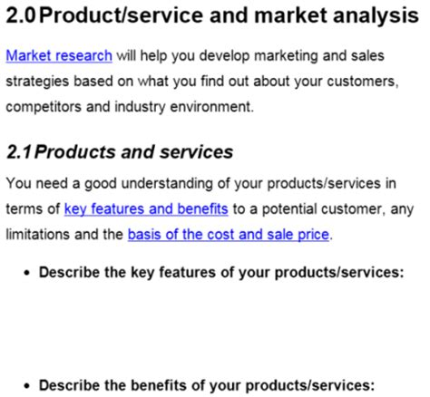 business gov au business plan template business gov 50 best free business plan templates