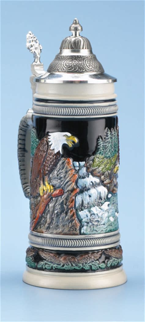 steins artificial trees bald eagle stein authentic steins from germany 1001beersteins