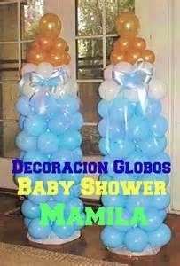 decoraci 243 n de globos baby shower mamila econ 243 mico y