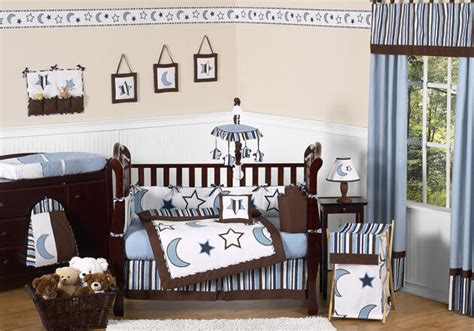 baby nursery bedding sets for boys celestial blue and white moon themed 9p baby boy crib bedding comforter set ebay