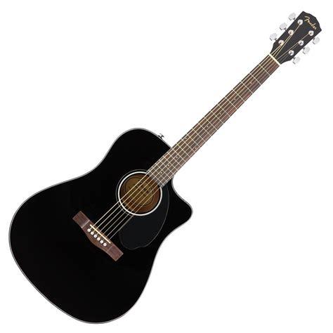 Guitar Black fender cd 60sce dreadnought electro acoustic guitar black