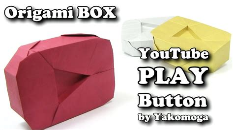 Origami Play - origami play button by yakomoga box