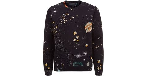 Outer Sweater valentino neoprene outer space sweater in black for lyst