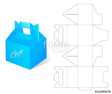 free die cut templates for boxes quot box with die cut template packing box for gift or other