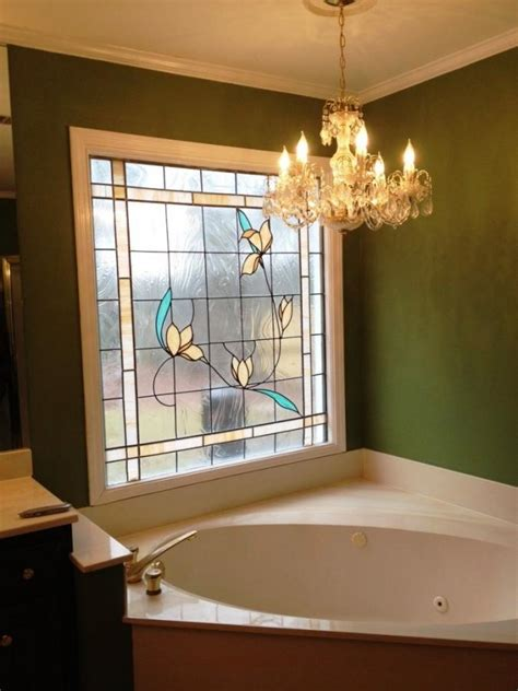 stained glass bathroom window 15 beautiful bathrooms with stained glass windows rilane