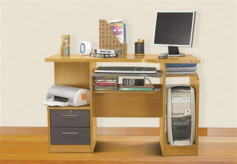 home office small computer desk with drawers and computer