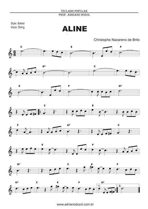 Aline - Richard Clayderman - Partitura para Teclado