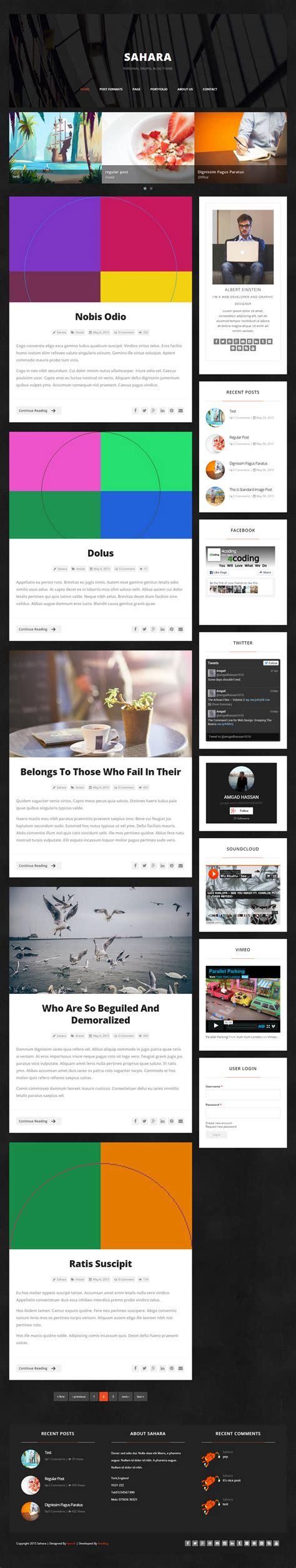 drupal themes responsive blog sahara premium responsive clean drupal blog theme