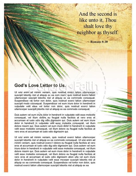 palm sunday newsletter template for church template