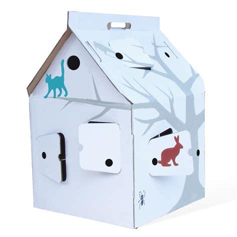 Maison En Carton A Colorier