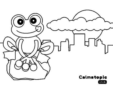 ciudad de dibujos para colorear dibujo de rana calmatopic en la ciudad para colorear
