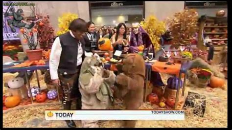 the today show cast does halloween star wars style al roker humped by drunken ewok on quot star wars quot today show