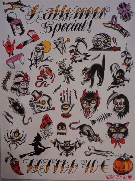 halloween tattoo flash 29 best designs and ideas