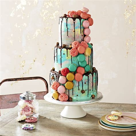 Christmas Decorating Ideas by Bespoke Macaron Wedding Cake By Anges De Sucre