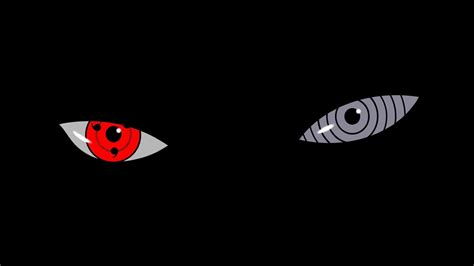 Eyes naruto: shippuden sharingan tobi black background