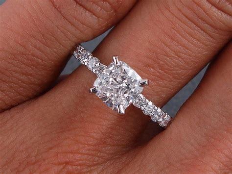 1 28 carats ct tw cushion cut engagement ring d