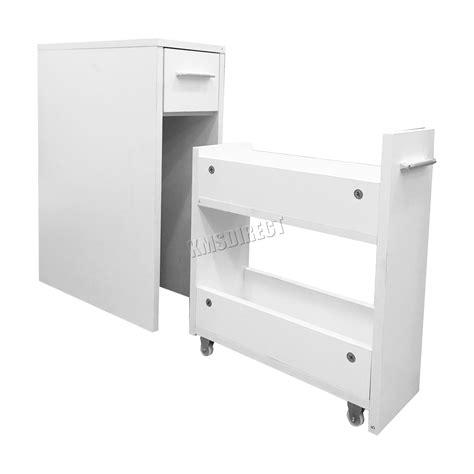slim bathroom storage unit foxhunter bathroom kitchen slide out storage drawer
