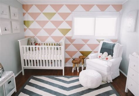 pink and gold baby room soft pink and gold baby nursery design with an accent wall kidsomania