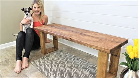 fifteen minute bench easy diy project youtube