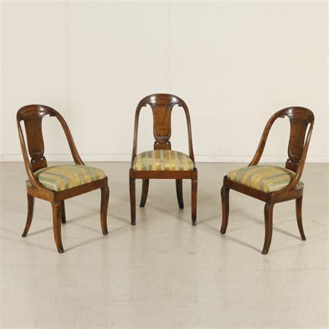 poltrone stile impero gruppo tre sedie a gondola impero sedie poltrone divani