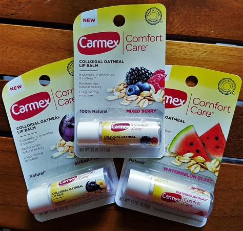 comfort care a review of the new carmex comfort care colloidal oatmeal