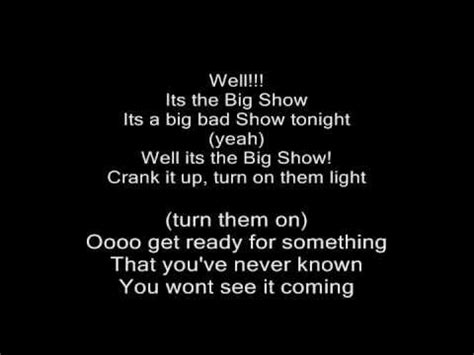 The Big Comfy Theme Song Lyrics by Big Show Theme Song Crank It Up With Lyrics