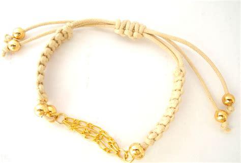 Macrame Chain - chane macrame bracelet gold chain macrame bead