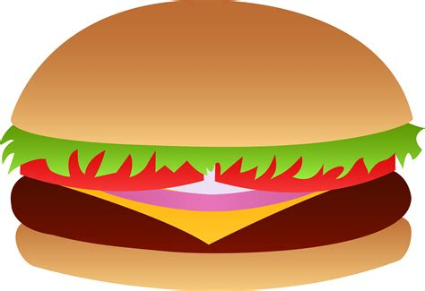 hamburger clipart cheeseburger vector free clip