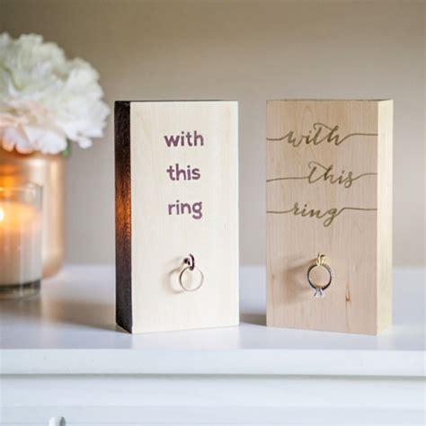 make your own wooden block wedding ring holder