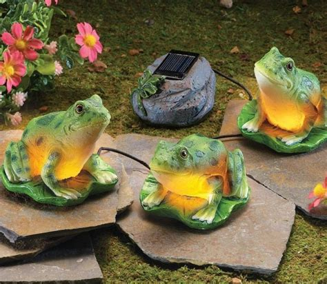 solar leap frogs garden figurine fresh garden decor