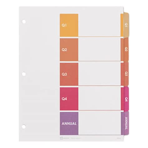 avery index tabs template avery 13153 ready index 5 tab customizable table of