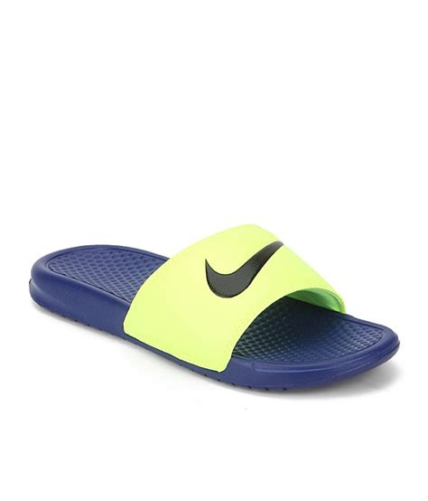 nike green slippers nike green synthetic casual slippers for price in