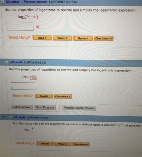 calculator log2 solved use the properties of logarithms to rewrite and si