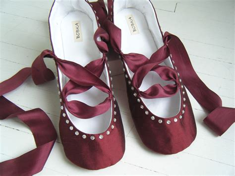 Flat Shoes Ballet Maroon items similar to burgundy ballet flats juliette bridal shoes wedding shoes by bobka baby on etsy