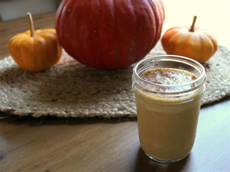 pumpkin smoothie with pumpkin pie spices and real pumpkin health home happiness
