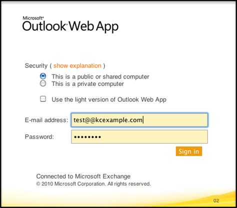 Office Outlook Web Access Sign In by Outlook Web Access Owa For Exchange Knowledge Center