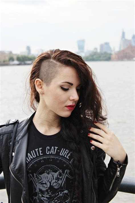 hairstyle short on one side only pin by hannah rummel on hair things pinterest undercut