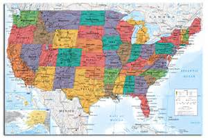 usa united states large map wall chart poster new