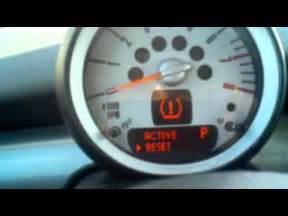 How To Reset Mini Cooper Service Light Mini Cooper Tire Pressure Reset And Checking Service