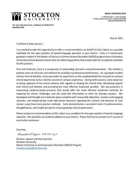 Recommendation Letter For Opportunity Cakert Employment Recommendation Letter