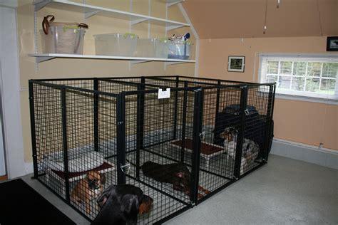 dog kennel in garage boarding